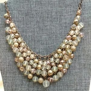 Jewelry - Chainmail beaded bib necklace